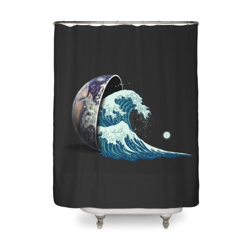 Earth Spill Home Shower Curtain by nicebleed