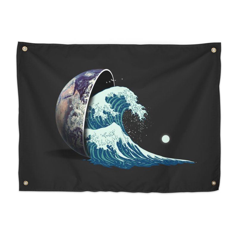 Earth Spill Home Tapestry by nicebleed