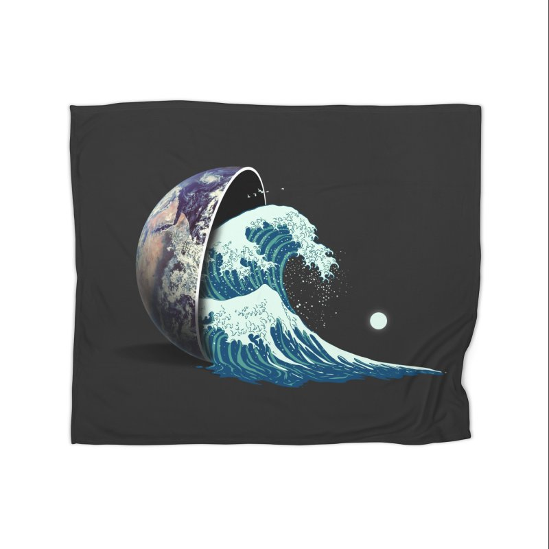 Earth Spill Home Fleece Blanket Blanket by nicebleed