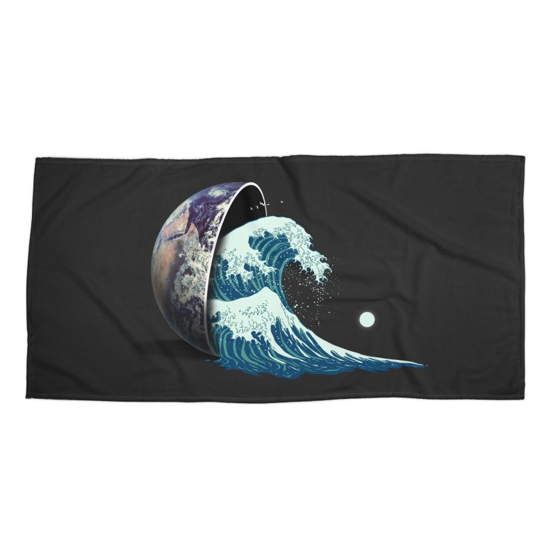 Earth Spill Accessories Beach Towel by nicebleed