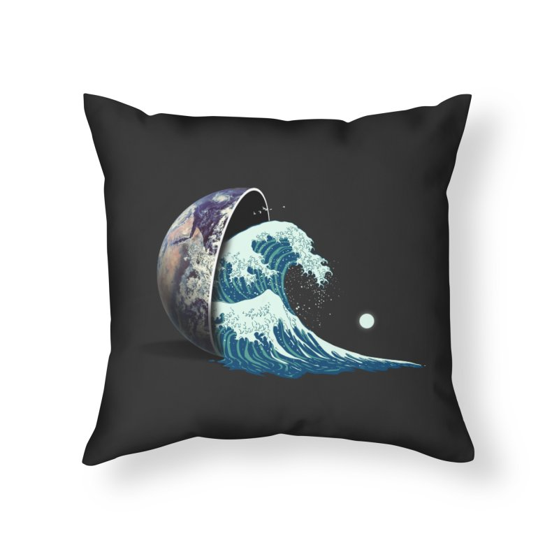Earth Spill Home Throw Pillow by nicebleed