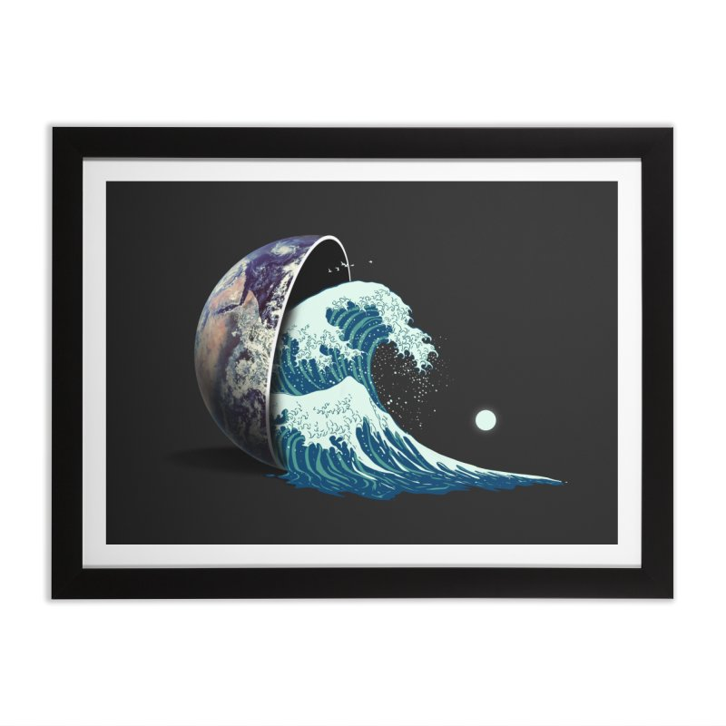 Earth Spill Home Framed Fine Art Print by nicebleed