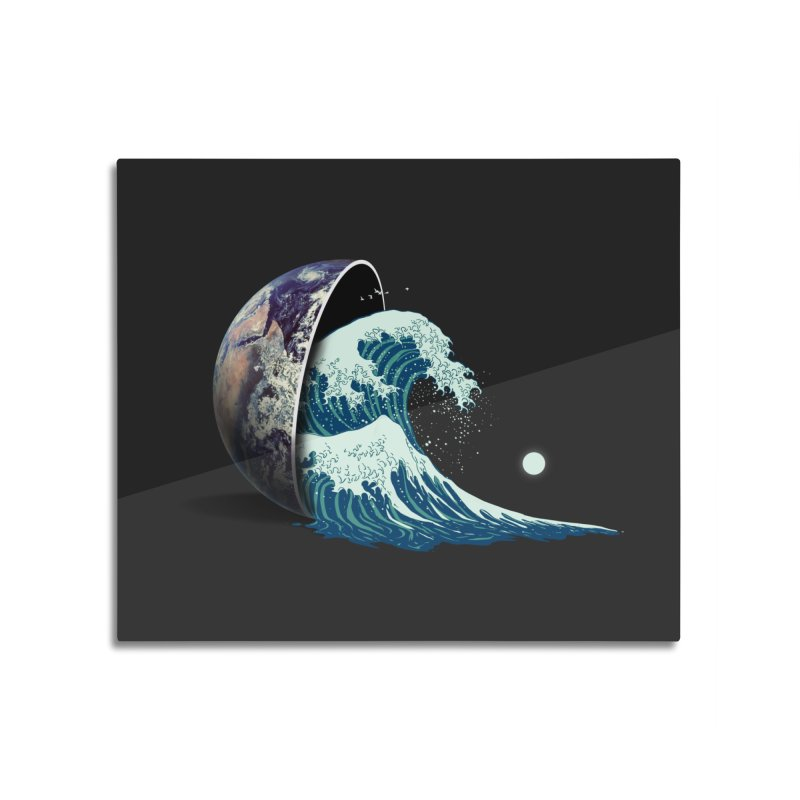 Earth Spill Home Mounted Aluminum Print by nicebleed