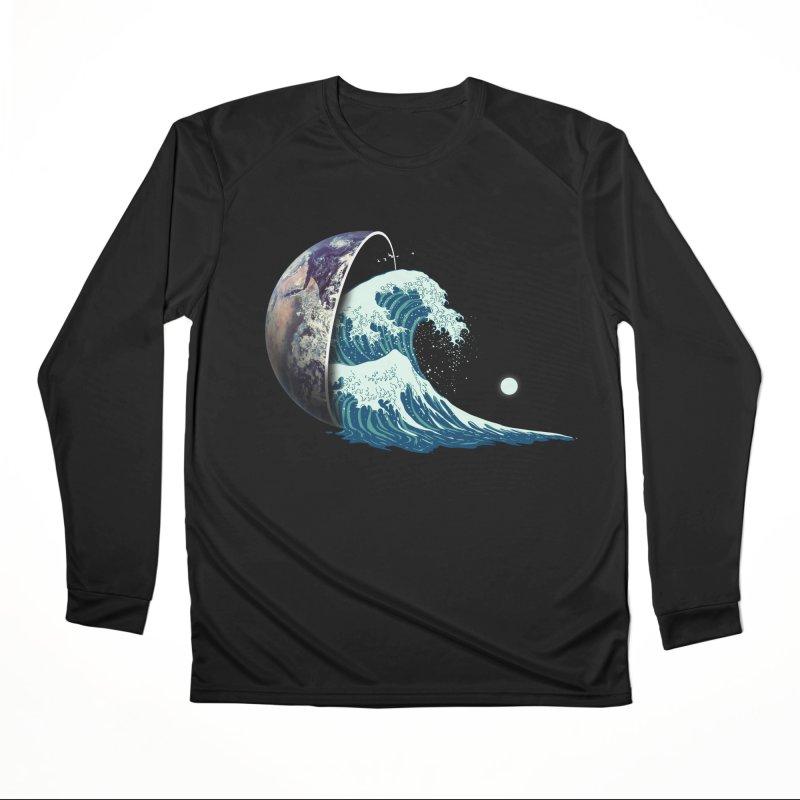 Earth Spill Men's Performance Longsleeve T-Shirt by nicebleed