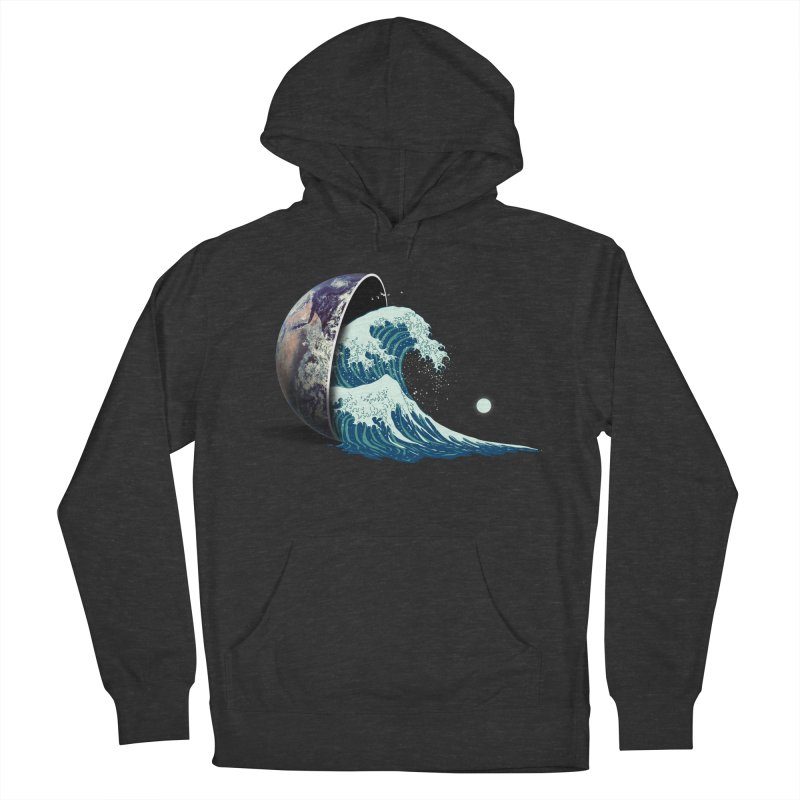 Earth Spill Women's French Terry Pullover Hoody by nicebleed