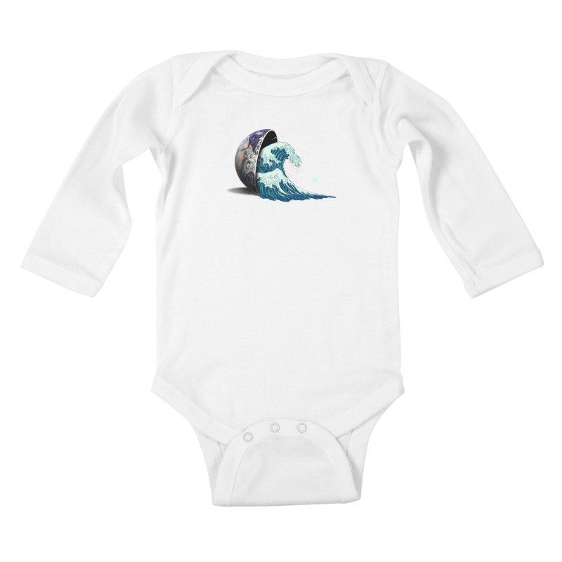 Earth Spill Kids Baby Longsleeve Bodysuit by nicebleed