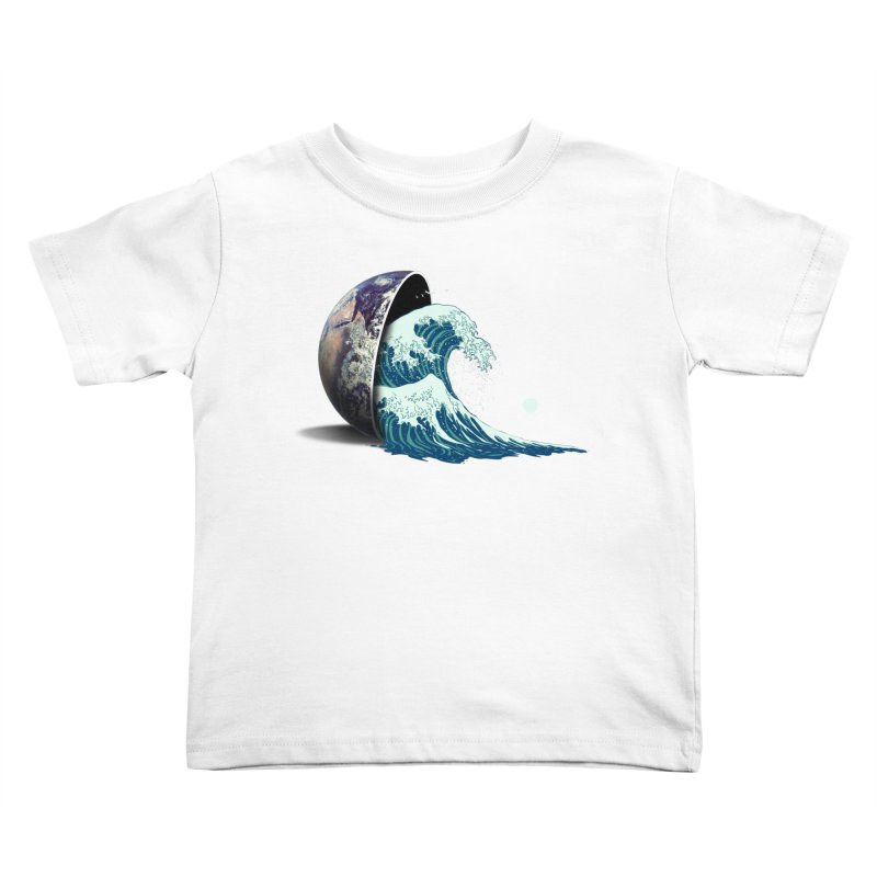 Earth Spill Kids Toddler T-Shirt by nicebleed