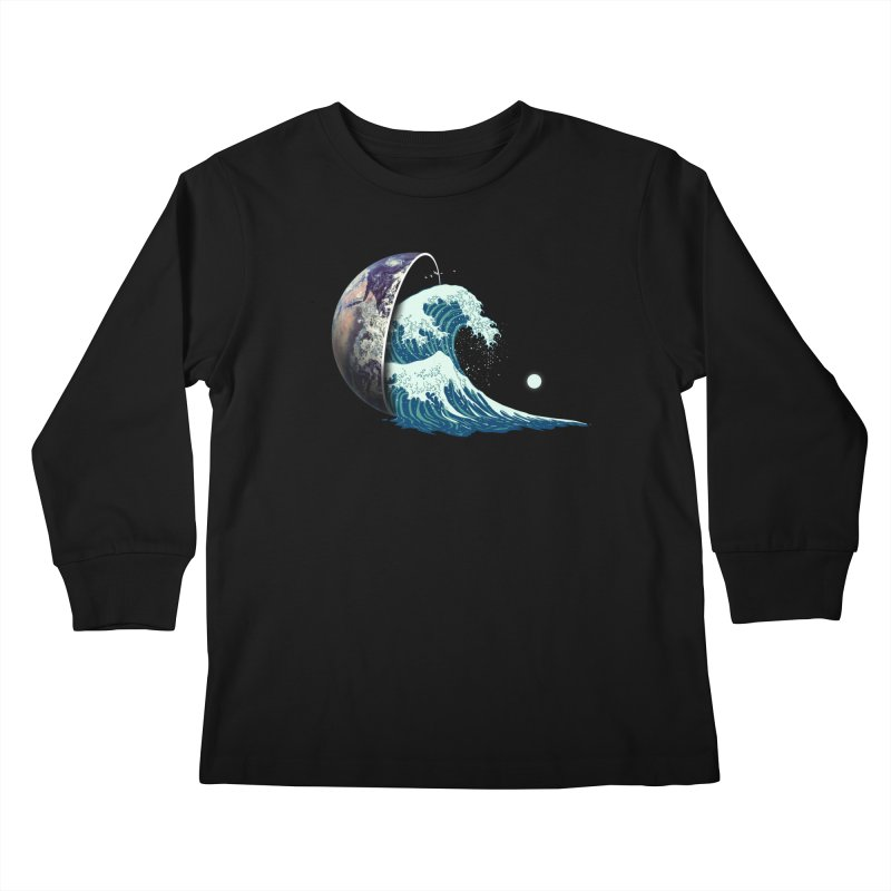 Earth Spill Kids Longsleeve T-Shirt by nicebleed