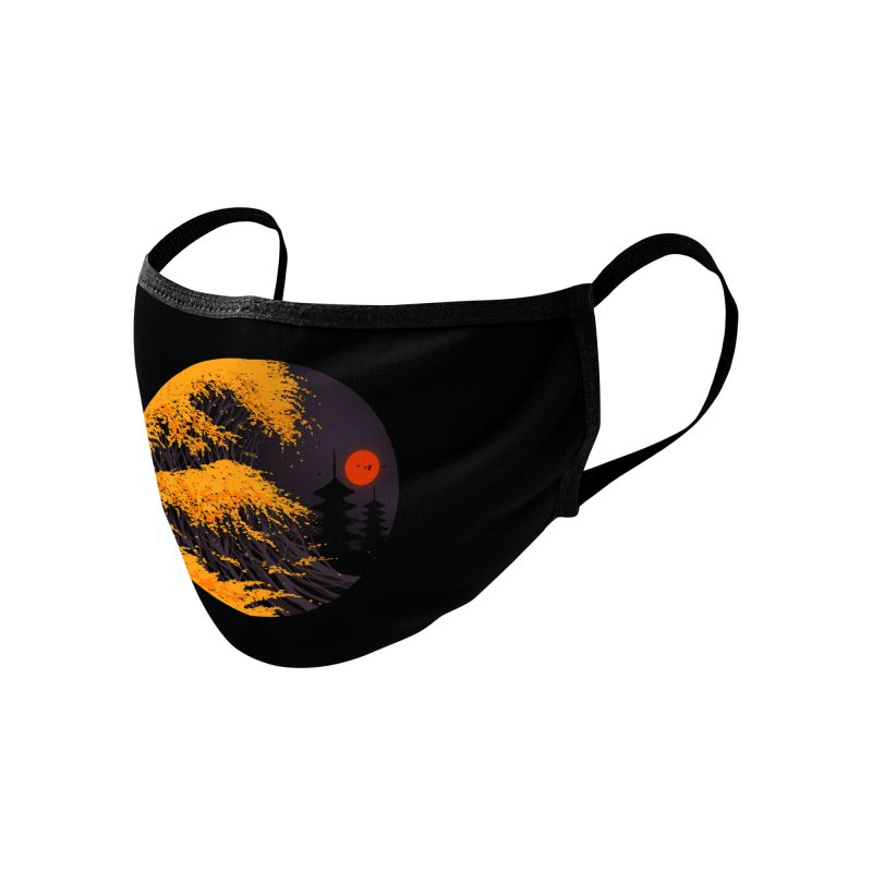 The Great Autumn Wave Accessories Face Mask by nicebleed