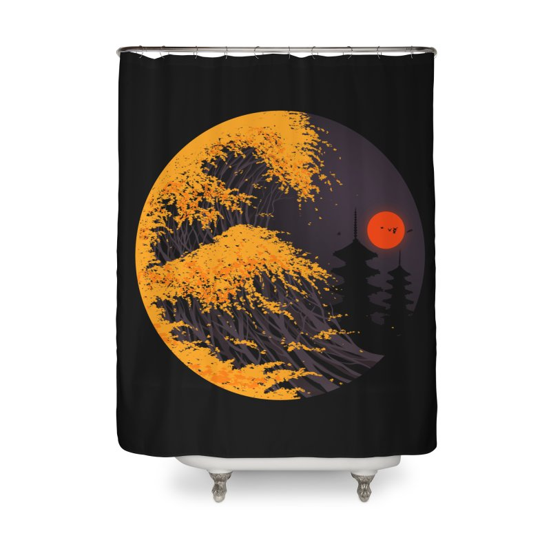 The Great Autumn Wave Home Shower Curtain by nicebleed