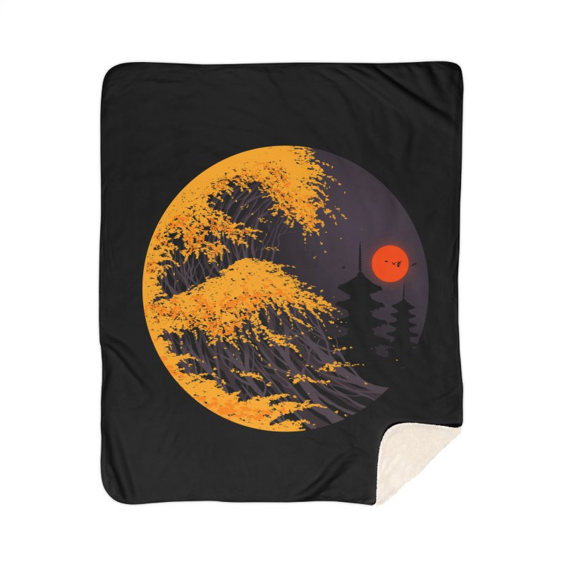 The Great Autumn Wave Home Sherpa Blanket Blanket by nicebleed