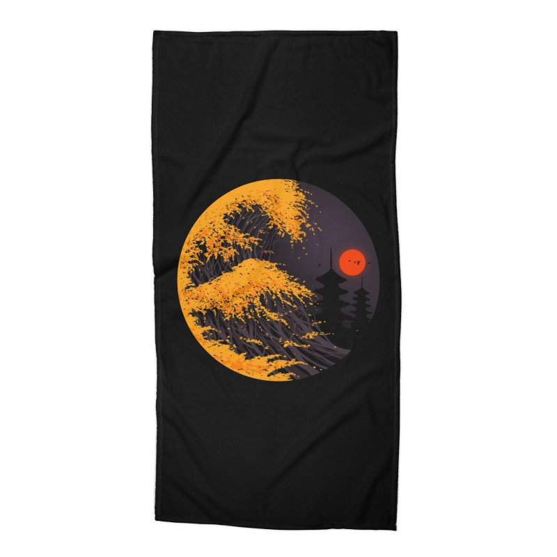 The Great Autumn Wave Accessories Beach Towel by nicebleed