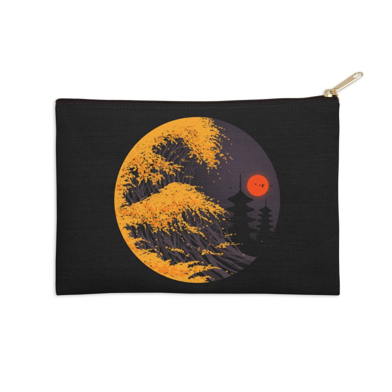 The Great Autumn Wave Accessories Zip Pouch by nicebleed