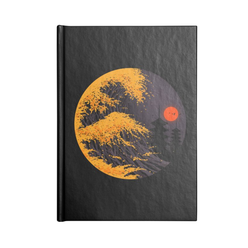 The Great Autumn Wave Accessories Lined Journal Notebook by nicebleed