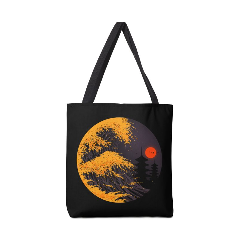 The Great Autumn Wave Accessories Tote Bag Bag by nicebleed