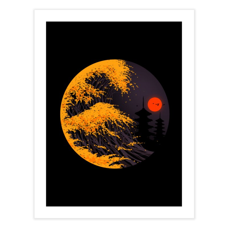 The Great Autumn Wave Home Fine Art Print by nicebleed
