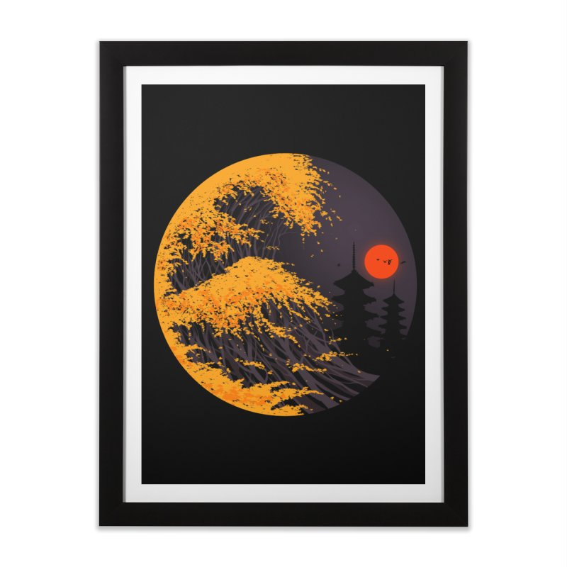 The Great Autumn Wave Home Framed Fine Art Print by nicebleed