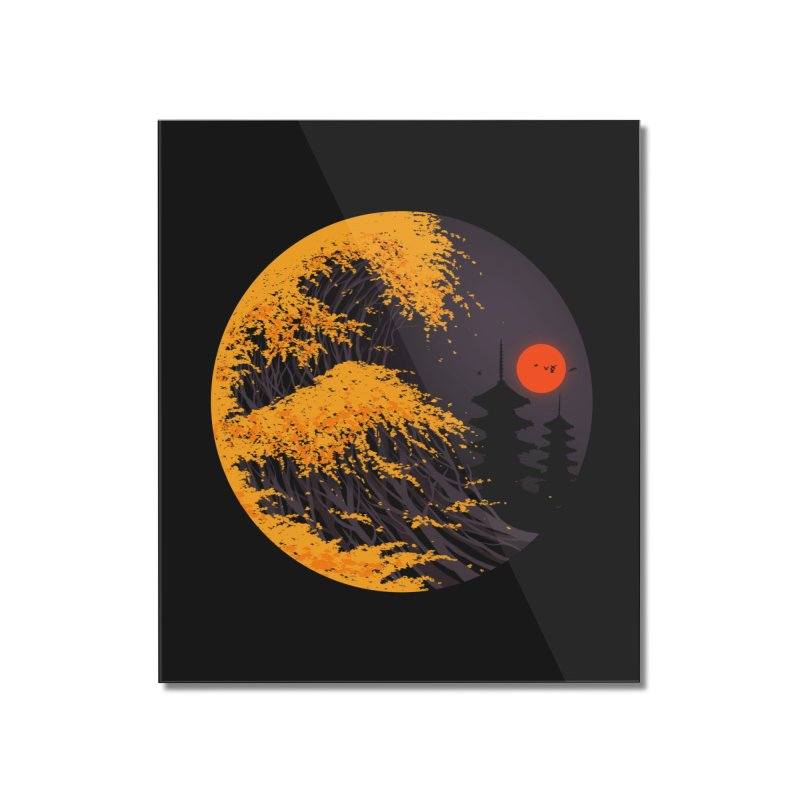 The Great Autumn Wave Home Mounted Acrylic Print by nicebleed