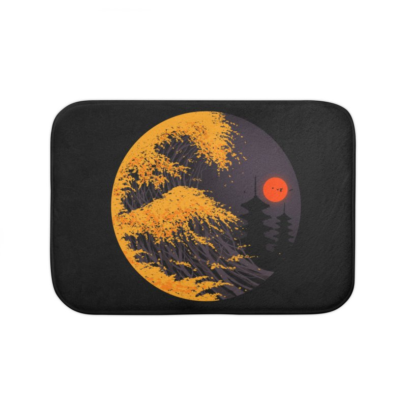 The Great Autumn Wave Home Bath Mat by nicebleed
