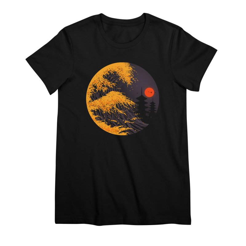 The Great Autumn Wave Women's Premium T-Shirt by nicebleed