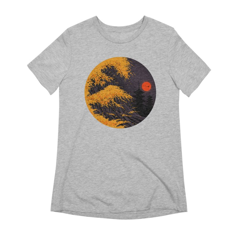 The Great Autumn Wave Women's Extra Soft T-Shirt by nicebleed