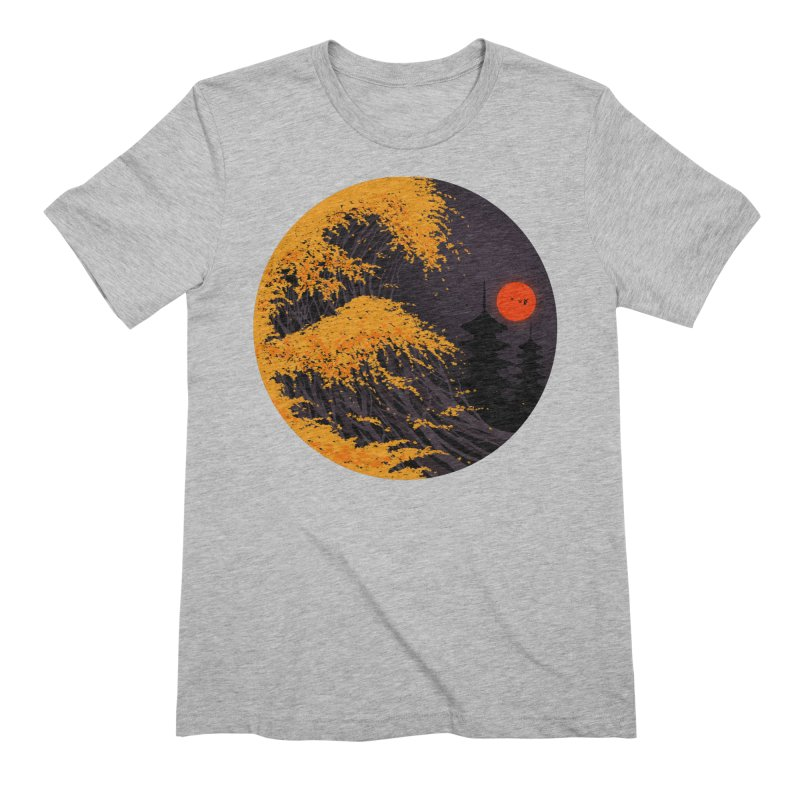The Great Autumn Wave Men's Extra Soft T-Shirt by nicebleed