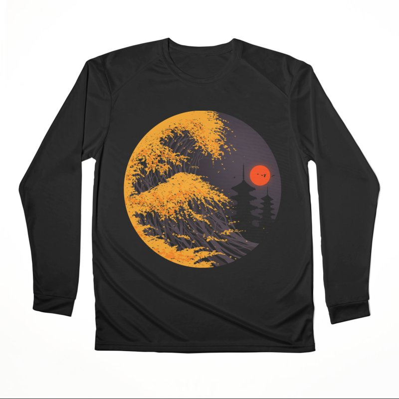 The Great Autumn Wave Men's Longsleeve T-Shirt by nicebleed