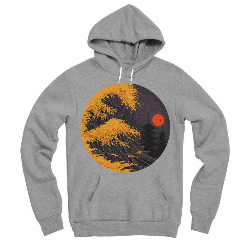 The Great Autumn Wave Women's Sponge Fleece Pullover Hoody by nicebleed
