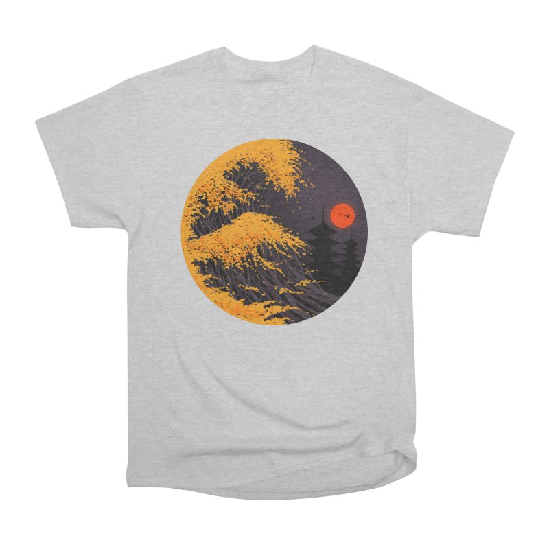The Great Autumn Wave Men's Heavyweight T-Shirt by nicebleed