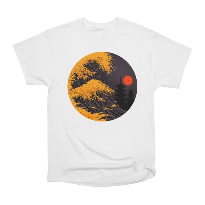 The Great Autumn Wave Women's Heavyweight Unisex T-Shirt by nicebleed