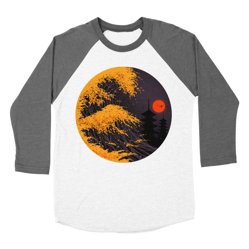The Great Autumn Wave Women's Baseball Triblend Longsleeve T-Shirt by nicebleed