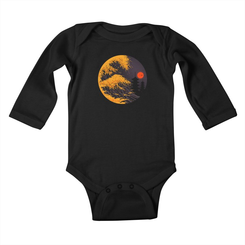The Great Autumn Wave Kids Baby Longsleeve Bodysuit by nicebleed