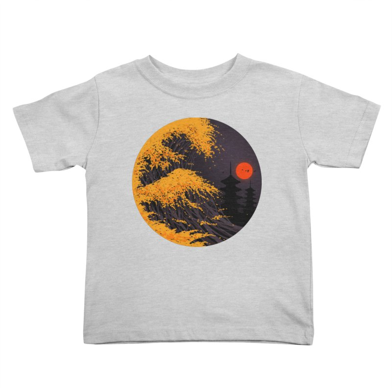 The Great Autumn Wave Kids Toddler T-Shirt by nicebleed