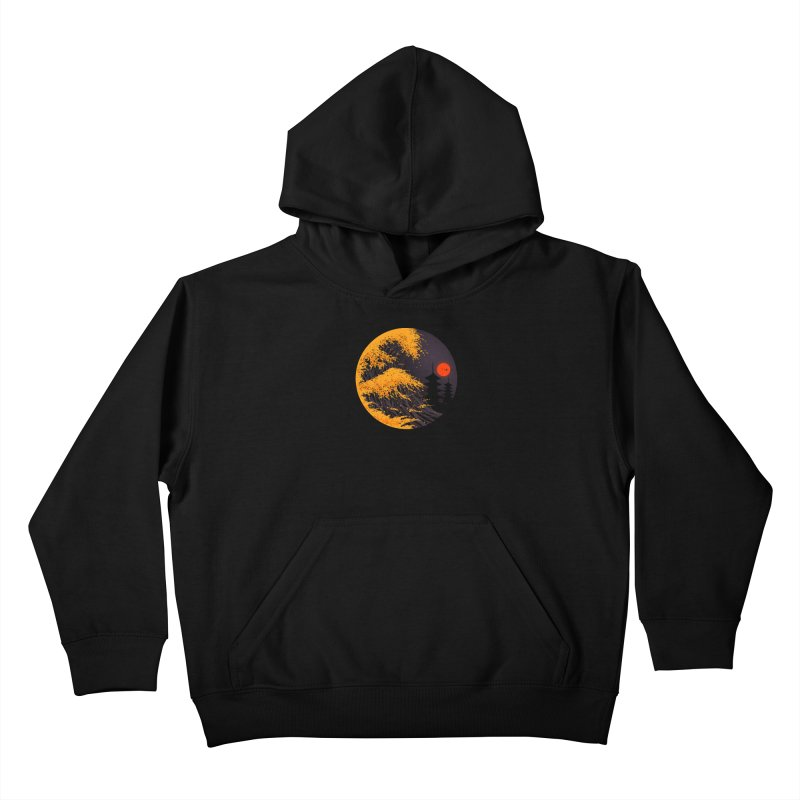 The Great Autumn Wave Kids Pullover Hoody by nicebleed