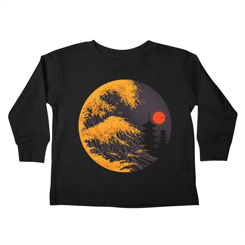 The Great Autumn Wave Kids Toddler Longsleeve T-Shirt by nicebleed