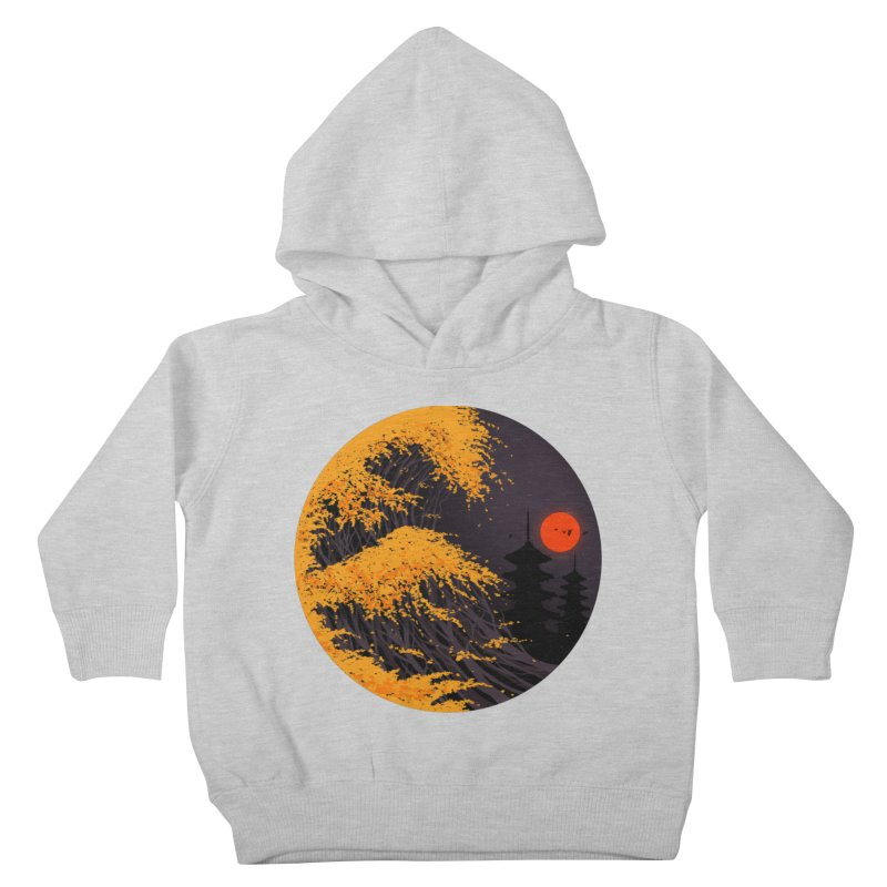 The Great Autumn Wave Kids Toddler Pullover Hoody by nicebleed