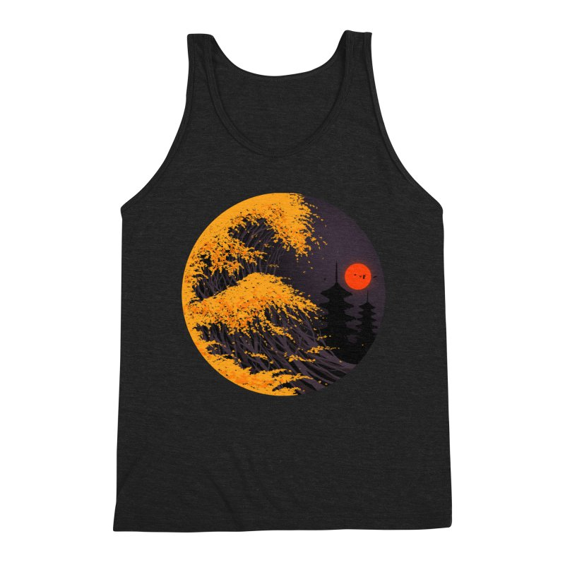 The Great Autumn Wave Men's Triblend Tank by nicebleed