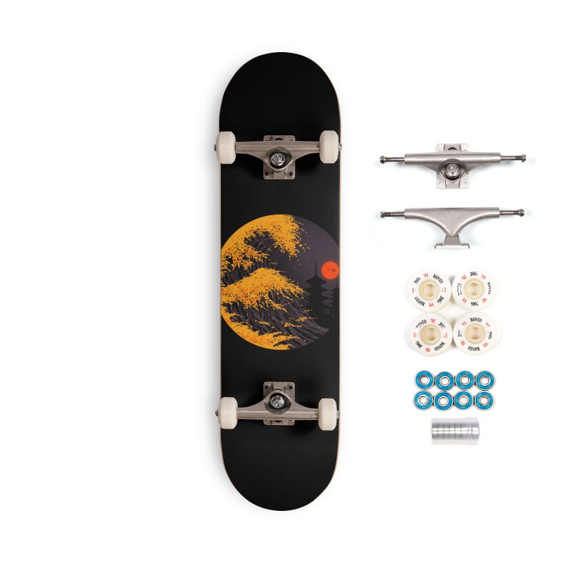 The Great Autumn Wave Accessories Complete - Premium Skateboard by nicebleed