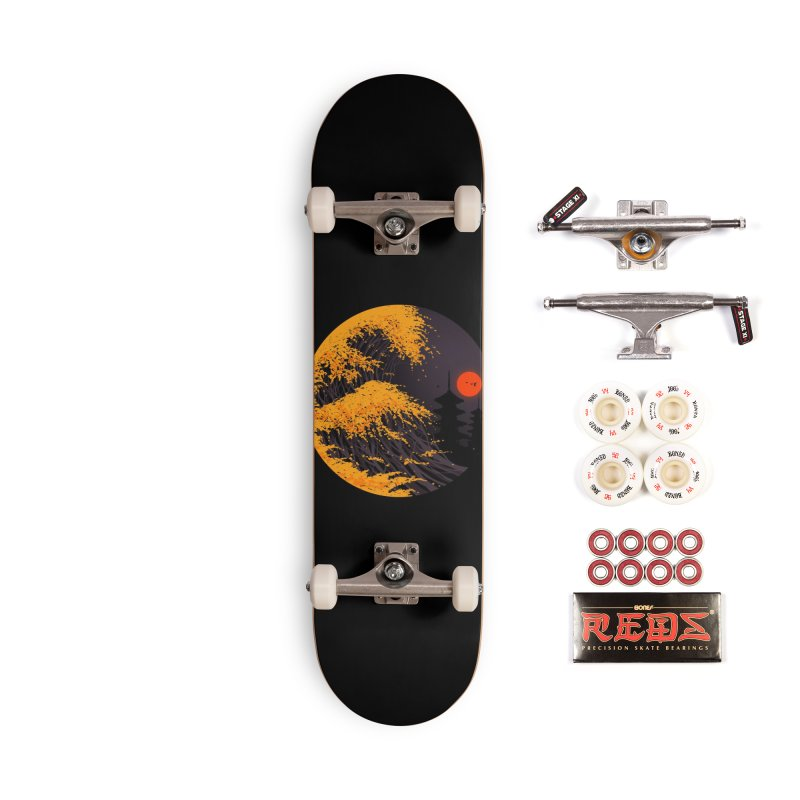 The Great Autumn Wave Accessories Complete - Pro Skateboard by nicebleed
