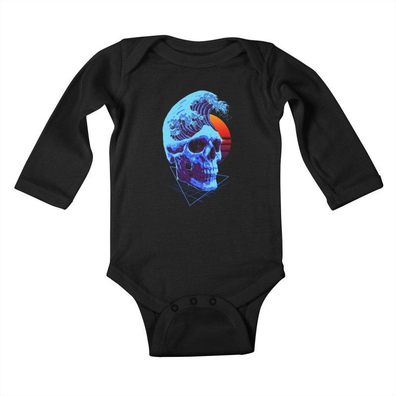Wavy Kids Baby Longsleeve Bodysuit by nicebleed