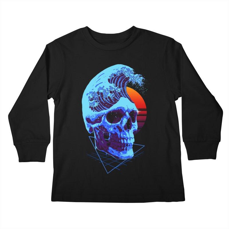 Wavy Kids Longsleeve T-Shirt by nicebleed