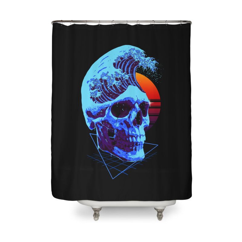Wavy Home Shower Curtain by nicebleed
