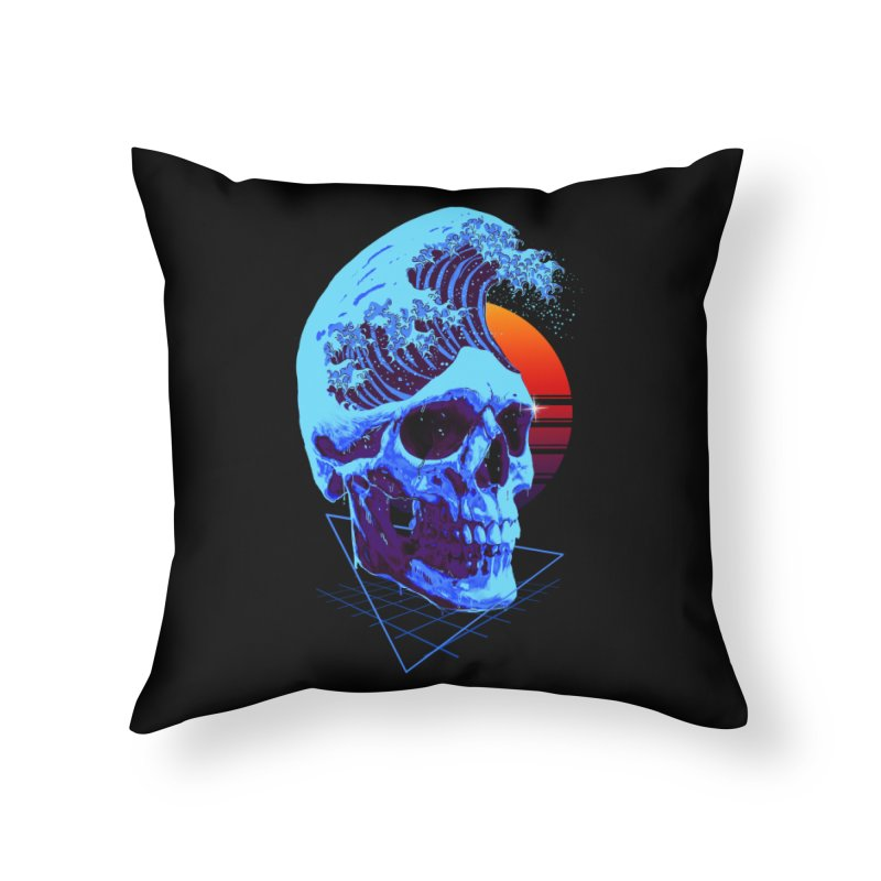 Wavy Home Throw Pillow by nicebleed