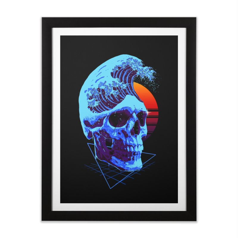 Wavy Home Framed Fine Art Print by nicebleed