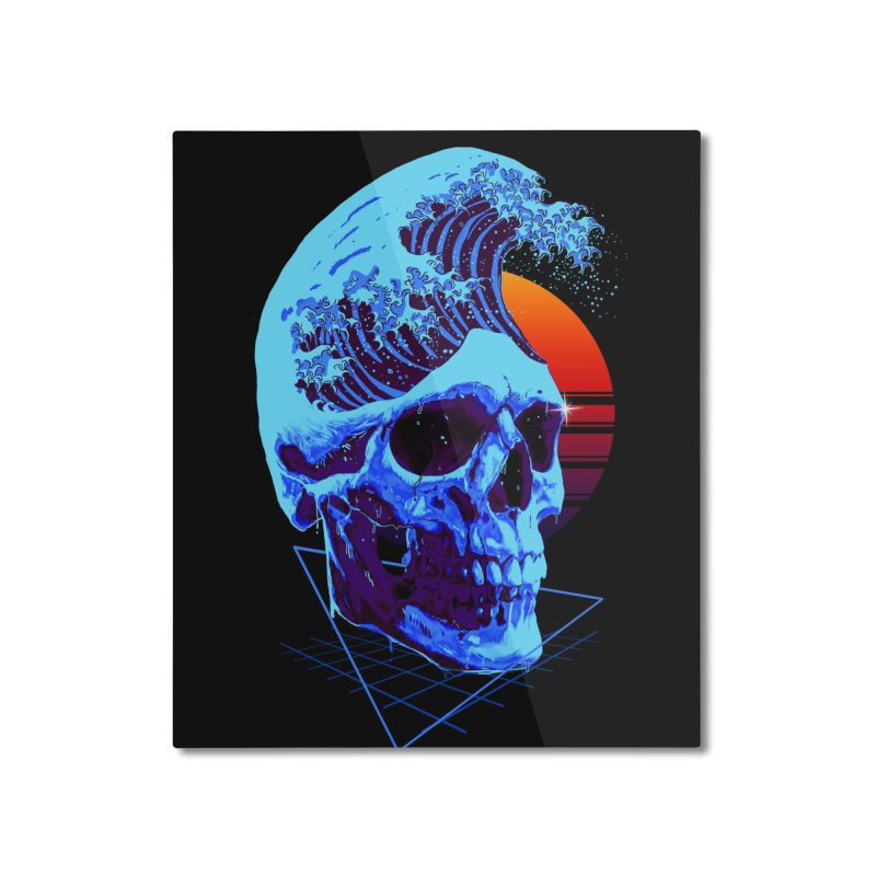 Wavy Home Mounted Aluminum Print by nicebleed