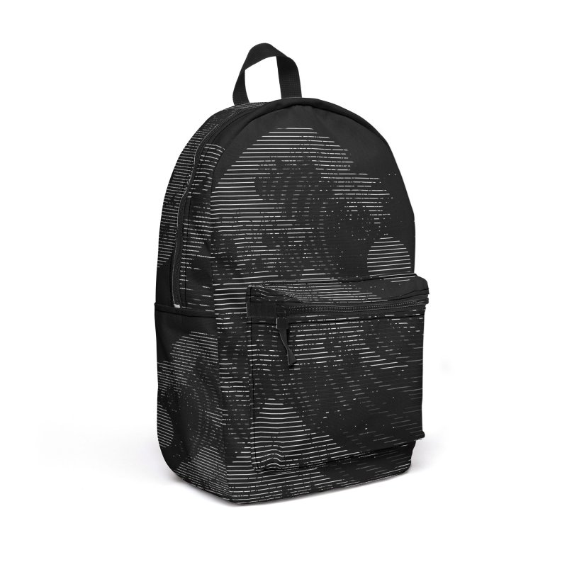 The Great Wave in Stripes Accessories Backpack Bag by nicebleed