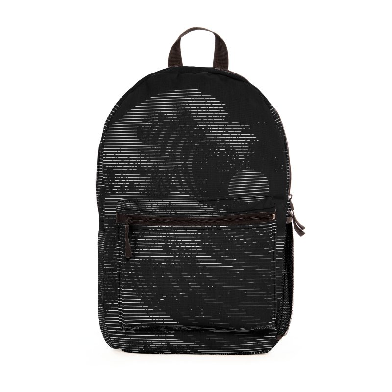 The Great Wave in Stripes Accessories Bag by nicebleed