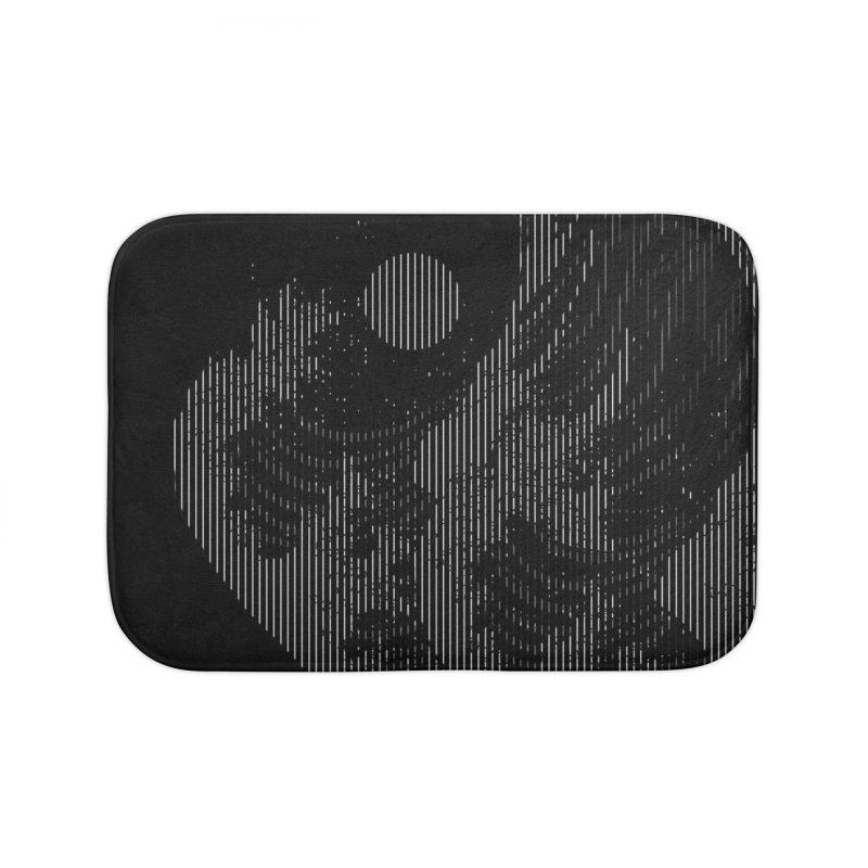 The Great Wave in Stripes Home Bath Mat by nicebleed