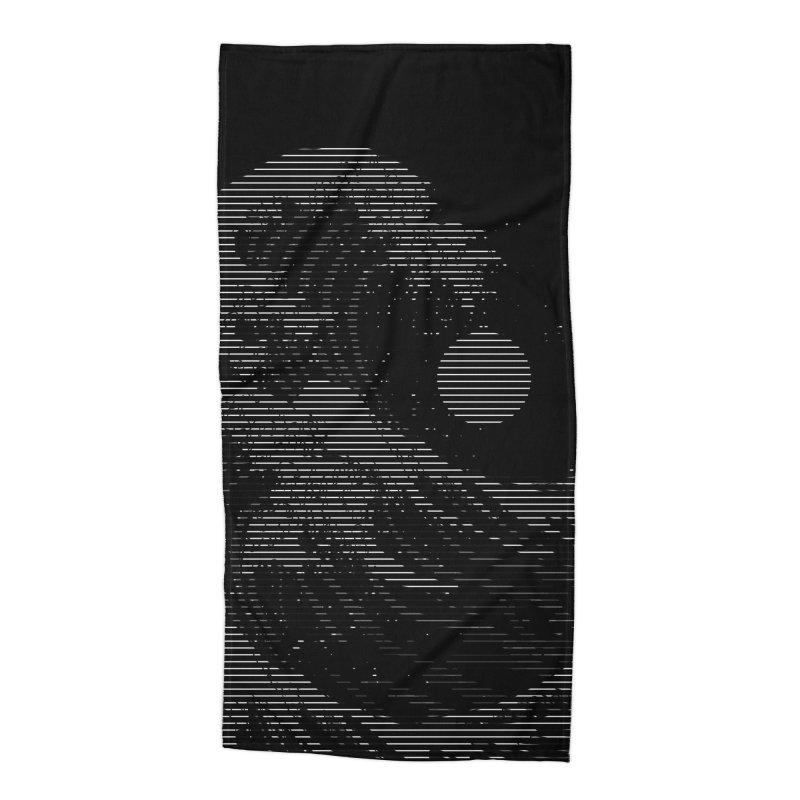 The Great Wave in Stripes Accessories Beach Towel by nicebleed