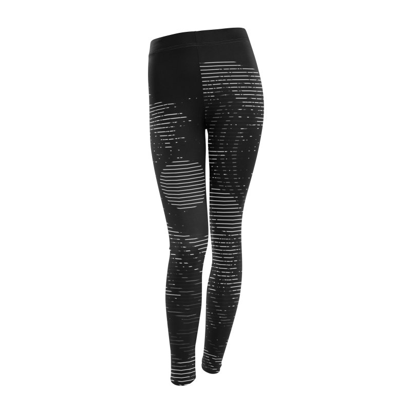 The Great Wave in Stripes Women's Leggings Bottoms by nicebleed